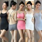 Erotic See-through Halter Dress Bodysuit Bodycon Lingerie Cosplay Thong Set Slip