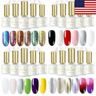 BORN PRETTY 6ml Glitter Soak Off UV Gel Nail Polish Thermal Nail Art Varnish Set