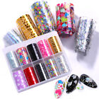 10 Rolls Valentine's Day Nail Foils Flowers Transfer Stickers Nail Art Decals