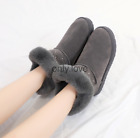 LADIES SLIPPERS WOMEN WIDE FIT MEMORY FOAM FUR THERMAL ANKLE BOOTS WARM SHOES