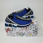 Dolce And Gabbana Sorrento Knitted Trainers Blue
