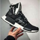 NEW adidas NMD R1 F99711 Black White Logo Japan Boost Mens Running Sizes