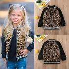 Toddler Baby Girls Leopard Print Zipper Jacket Coat Casual Tops Outwear Outfits