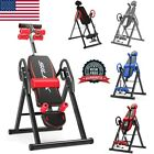 Adjustable Heavy Duty Inversion Table Back Pain Relief Therapy Fitness Exercise image