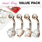 Steel / Acrylic / Flexi Belly Bars Pack - Wholesale Body Jewellery -  UK SELLER
