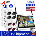 """1080P Wireless Security Camera System Outdoor 12"""" 15"""" Monitor 8CH NVR 1TB HDD US"""
