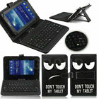 "US Printed Leather Case Cover Micro USB Keyboard For 7"" 8"" 9.6"" 10.1"" Tablet PC"