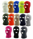 3 Hole Ski Mask Sherpa Fleece Lined Balaclava Winter Hat - Pick a Color