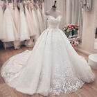 Off Shoulder Applique Lace Wedding Dresses Bridal Ball Gowns Sweetheart Custom