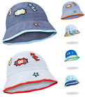 Baby Kids Boy Toddler Summer Hat Bucket Boom or Windsurfing Design Sun Cotton