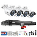 ANNKE 6MP 4CH POE NVR 4x HD 1080P Security Camera System IP Network Smart Search