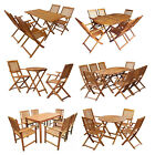 Acacia Wood Outdoor Folding Dining Set Garden Table Chair Set Patio Furniture