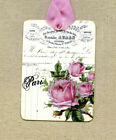 Hang Tags FRENCH PARIS ROSE LEDGER TAGS or MAGNET 295 Gift Tags