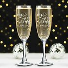 Set of 2 Personalized Wedding Champagne Glass with box - Mr & Mrs Flutes Cute