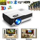 LED Smart Home Theater Projector Android 6.0 4K Wifi BT 1080p FHD 3D Video LOT