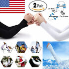 2 Pairs Premium Anti-uv Arm Cooling Sun Compression Sleeves For Men Women