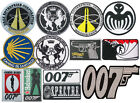 James Bond 007 Badges Embroidered Patch Sew/Iron - on £5.99 GBP on eBay