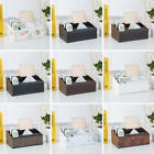 Household Desktop Faux Leather Remote Control Phone Tissue Paper Storage Box Eag