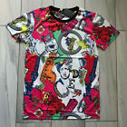 Versace Print Cotton Logos Statue Crew Neck Multicolor  Logo  T-shirt  Men's