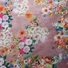 Poly Cotton Muslin Floral 3D Digital Spring Summer Print Dressmaking Fabric 44