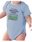 Infant creeper bodysuit One Piece t-shirt I'm The Good Kid My Brother's The Brat