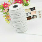 Elastic Band Cord 1/8 1/4 inches width (3/6mm) White 10yards to 500 Yards Sewing