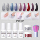 5G LILYCUTE Glitter Nail Dipping Powder Dust Dip Liquid Nail Art Brush Set Tools