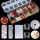 Empty Nail Storage Box Container Organizer for Nail Rhinestones Studs 3D Decors