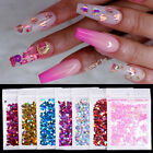 Colorful Nail Art Flakes Holographics Love Heart Nail Glitter Sequins Decoration