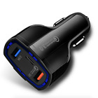 3-Port USB FAST Car Charger Type-C Latest Android, iPhone 11 Pro Max and MacBook
