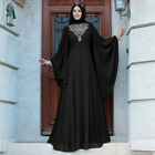 Muslim Women Maxi Dress Dubai Abaya Farasha Gown Morocco Kaftan Long Robe Jilbab