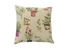 Hand made Decorative Herb plants Garden Linen Multicolored scatter cushion cover