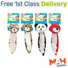 Pets Play Dog Toy Squeaker Wild Animal Selection Set of 4 Soft Plush + For Cats