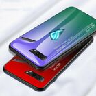Case Gradient Tempered Glass For Asus ROG Phone 2 Soft Silicone Edge Back Covers