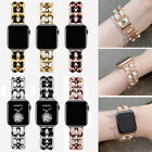 Top Leather Bling Wrist Band For Apple Watch Series 5/4/3/2/1 38/40/42/44mm image