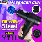 Muscle Massage Gun Deep Tissue Sports Therapy Vibration Fitness Massager Relax $65.54 USD on eBay