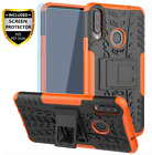Samsung Galaxy A20S Case with HD Screen Protector Shockproof Kickstand