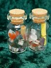 FAIRY WISHING JARS - CRYSTAL CHIPS, WISH SCROLL PERFECT FOR FAIRY PARTYS