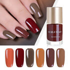 9ml NICOLE DIARY Caramel Coffee Serie Nail Polish Quick Dry Nail Art Varnish