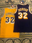 NWT #32 Earvin Magic Johnson Los Angeles Lakers Throwback Basketball MENS Jersey on eBay
