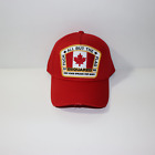 DSquared2 'F*CK ALL BUT THE FLAG' Embroidery Cap Light Red