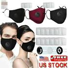 Air Purifying Cover Carbon Filter Mouth Mask Anti Haze Fog Outdoor Reusable US