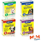 Johnson's One Dose Easy Wormer Dog Worm Worming Tablets Roundworm & Tapeworm