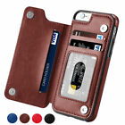 Magnetic Leather Wallet Case Card Slot Shockproof Flip Cover For Iphone Xs 6 7 8