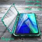 360 Metal Magnetic 2 Sides Glass Phone Case Cover For Oppo Reno4 Z Pro A91 A72