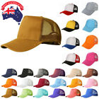 Adjustable Outdoor Sport Tennis Golf Mesh Baseball Cap Snapback Hat AU STOCK