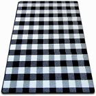 AMAZING THICK MODERN RUGS SKETCH WHITE BLACK 20 Pattern LARGE SIZE BEST-CARPETS