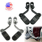 """Highway Foot Pegs For Harley Road King Street Glide 1.25"""" 32mm Engine Guard Bars $59.76 USD on eBay"""