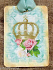 Hang Tags FRENCH CROWN PINK ROSE TAGS or MAGNET 24 Gift Tags