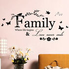 Art Diy Room Removable Home Decor Wall Stickers Decals Family Vinyl Quotes Mbda
